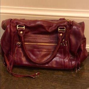 Rebecca Minkoff Burgundy Leather Handbag